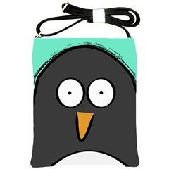 Penguin Close Up Shoulder Sling Bag by PaolAllen