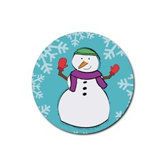 Snowman Drink Coaster (round) by PaolAllen