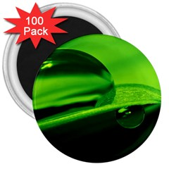 Green Drop 3  Button Magnet (100 Pack) by Siebenhuehner