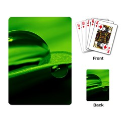 Green Drop Playing Cards Single Design by Siebenhuehner