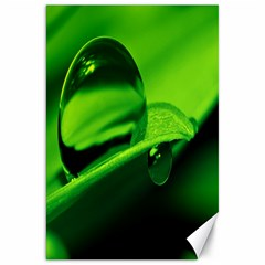 Green Drop Canvas 20  X 30  (unframed) by Siebenhuehner