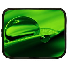 Green Drop Netbook Case (xl) by Siebenhuehner