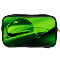 Green Drop Travel Toiletry Bag (one Side) by Siebenhuehner