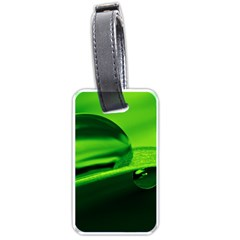 Green Drop Luggage Tag (one Side) by Siebenhuehner