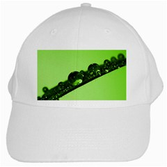 Green Drops White Baseball Cap by Siebenhuehner