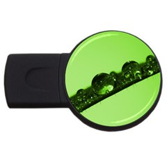 Green Drops 4gb Usb Flash Drive (round) by Siebenhuehner