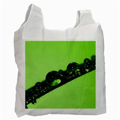 Green Drops Recycle Bag (two Sides) by Siebenhuehner