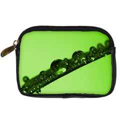 Green Drops Digital Camera Leather Case