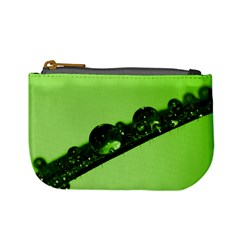 Green Drops Coin Change Purse