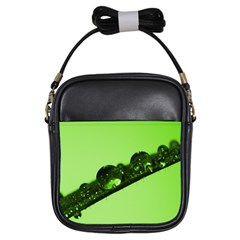Green Drops Girl s Sling Bag