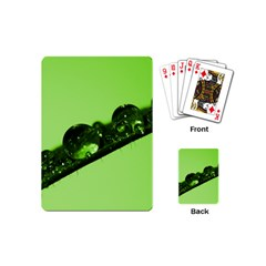 Green Drops Playing Cards (mini)