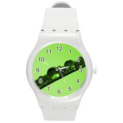 Green Drops Plastic Sport Watch (medium)