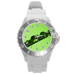 Green Drops Plastic Sport Watch (large) by Siebenhuehner