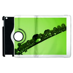 Green Drops Apple Ipad 2 Flip 360 Case by Siebenhuehner