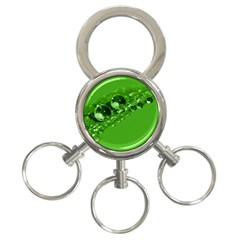 Green Drops 3 Ring Key Chain