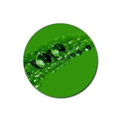 Green Drops Drink Coaster (round)