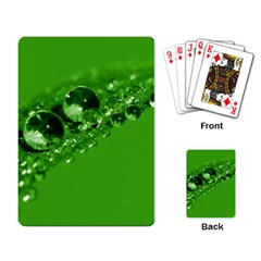 Green Drops Playing Cards Single Design by Siebenhuehner