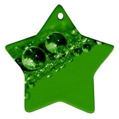 Green Drops Star Ornament (two Sides)