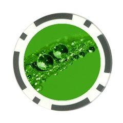 Green Drops Poker Chip