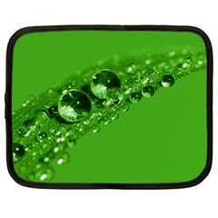 Green Drops Netbook Case (large)