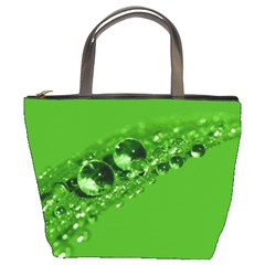 Green Drops Bucket Bag