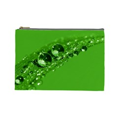 Green Drops Cosmetic Bag (large)