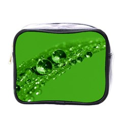 Green Drops Mini Travel Toiletry Bag (one Side) by Siebenhuehner