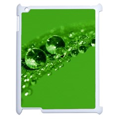 Green Drops Apple Ipad 2 Case (white) by Siebenhuehner