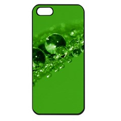 Green Drops Apple Iphone 5 Seamless Case (black)