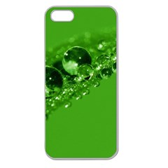 Green Drops Apple Seamless Iphone 5 Case (clear)