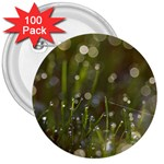 Waterdrops 3  Button (100 pack) Front