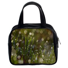 Waterdrops Classic Handbag (two Sides)