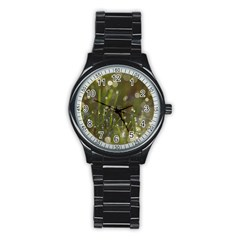 Waterdrops Sport Metal Watch (black) by Siebenhuehner