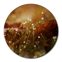 Waterdrops 8  Mouse Pad (round) by Siebenhuehner