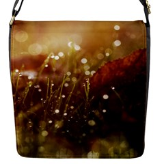 Waterdrops Flap Closure Messenger Bag (small)