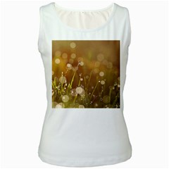 Waterdrops Womens  Tank Top (white)