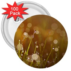 Waterdrops 3  Button (100 Pack)
