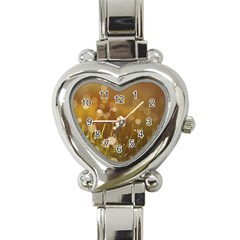 Waterdrops Heart Italian Charm Watch  by Siebenhuehner
