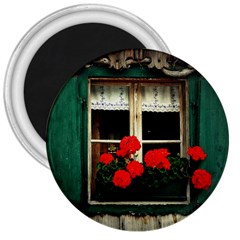 Window 3  Button Magnet by Siebenhuehner