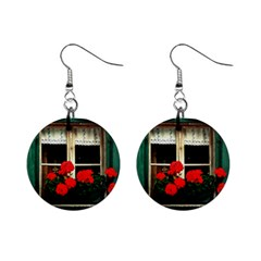 Window Mini Button Earrings by Siebenhuehner