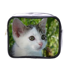 Young Cat Mini Travel Toiletry Bag (one Side) by Siebenhuehner
