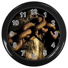Chain Wall Clock (black) by Siebenhuehner