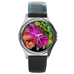 Tubules Round Metal Watch (silver Rim)