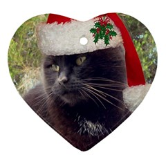 Christmas Kitty Heart Ornament by Contest1634613