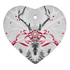 Christmas Collage Heart Ornament (two Sides) by Contest1764179