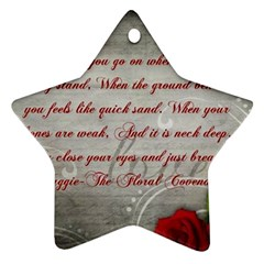 Maggie s Quote Star Ornament (two Sides)