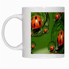 Ladybird White Coffee Mug by Siebenhuehner
