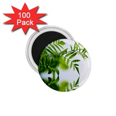 Leafs With Waterreflection 1 75  Button Magnet (100 Pack) by Siebenhuehner