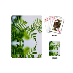 Leafs With Waterreflection Playing Cards (mini) by Siebenhuehner