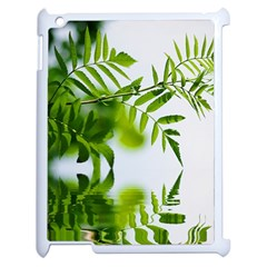 Leafs With Waterreflection Apple Ipad 2 Case (white) by Siebenhuehner
